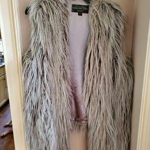 Faux fur vest.  Brand new, never worn.